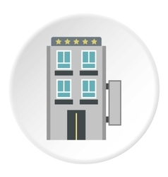 Hotel five stars icon flat style vector image