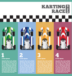 karting at finish line vector image