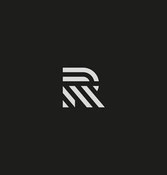 letter r line logo design creative vector image