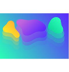 liquid color background design fluid gradient sha vector image