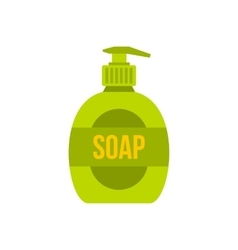 Liquid soap icon flat style vector image