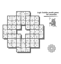 Logic sudoku game for children and adults big vector