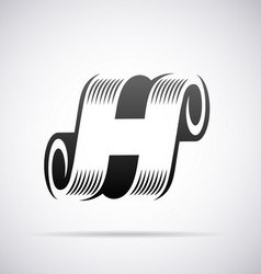 Logo for letter H vector image