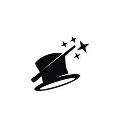 magician logo design template vector image