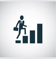 man climbs stairs icon simple flat element vector image