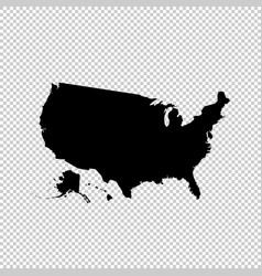 Map usa isolated black on vector