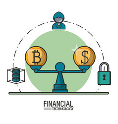 Money and financial technology vector