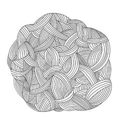 Monochrome background Hand drawn ornament vector