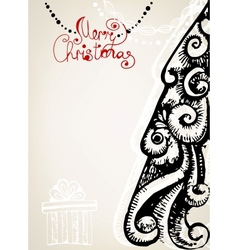 Ornamental vintage christmas card vector