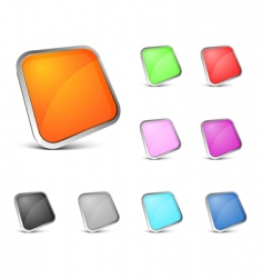 perspective color buttons vector image