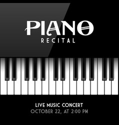 piano recital poster leaflet or invitation design vector image