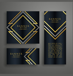 premium golden invitation card design vector image