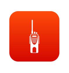 Radio transmitter icon digital red vector