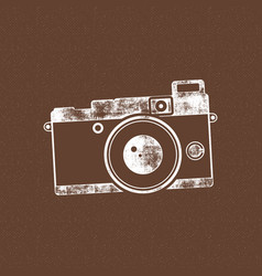 retro camera icon old poster template isolated vector image
