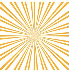 Retro sunburst background centric yellow p vector