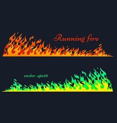 Running fire flame elements vector