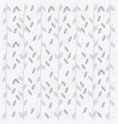 rustic leaves hand drawn background vector image
