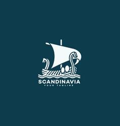scandinavia logo vector image