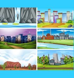Set different landscape vector
