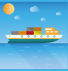 ship icons vector image