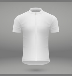 Shirt template for cycling jersey vector