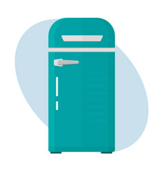 stainless refrigerator with fashion industrial vector image