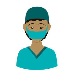 surgeon doctor profile avatar vector image