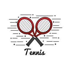 symbol tennis play icon vector image