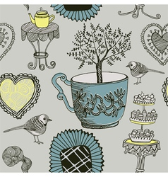 Tea and Birds vector