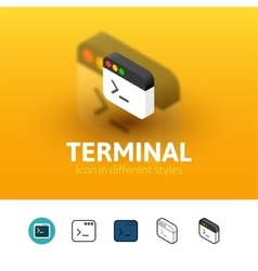 Terminal icon in different style vector