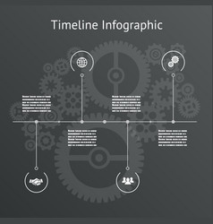 timeline infographics business design template vector image