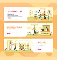 veterinary clinic or hospital vet consultation vector image