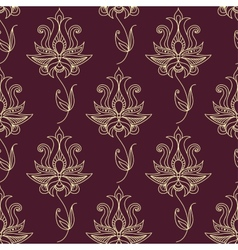 Vintage ethnic flourish seamless pattern vector image