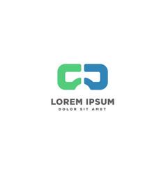 Virtual reality vr vision logo template vector