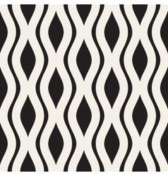 Wavy Ripple Lines Seamless Black and White vector