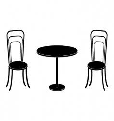 chairs converted vector image vector image