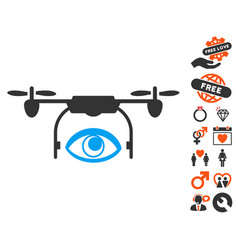 eye spy drone icon with dating bonus vector image vector image
