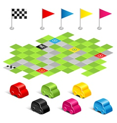game racing vector image vector image