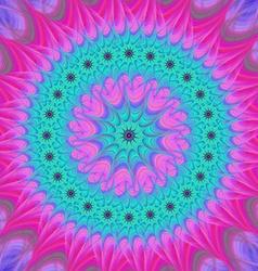 Abstract mandala fractal design background vector image vector image