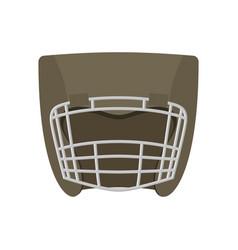 Boxing helmet gray boxer mask isolated spor vector