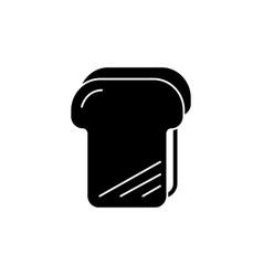 bread toast icon black sign vector image vector image