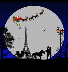 holiday background on paris vector image