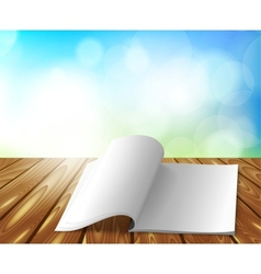 Magazine on wooden table vector image vector image