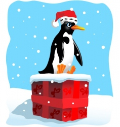 penguin sitting vector image vector image