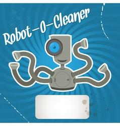 robot cleaner vector image vector image