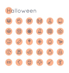Round Halloween Icons vector image vector image
