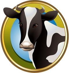 Farm cow vector image