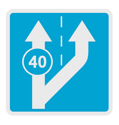 forty on arrow icon flat style vector image