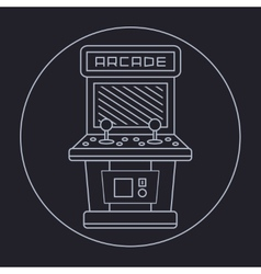 pixel art style simple line drawing of arcade vector image vector image