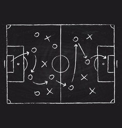 soccer game tactical scheme with football players vector image